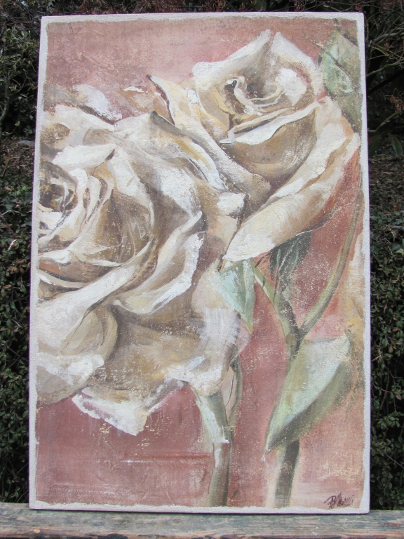 Deux roses blanches