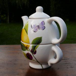 """Théière """"LUDA"""" et tasse combinée"""