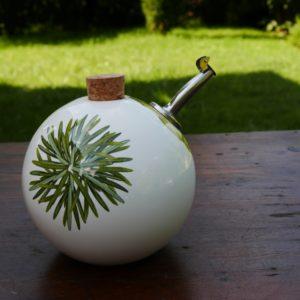 Huilier sphérique, décor herbes aromatiques